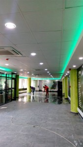 A Finished suspended ceiling at NITA
