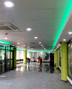 A Finished suspended ceiling at-NITA