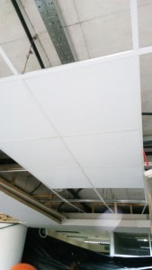 Final Stages of suspended ceiling work at NOC-NITA offices