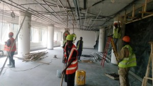 Suspended ceiling at NOC part1