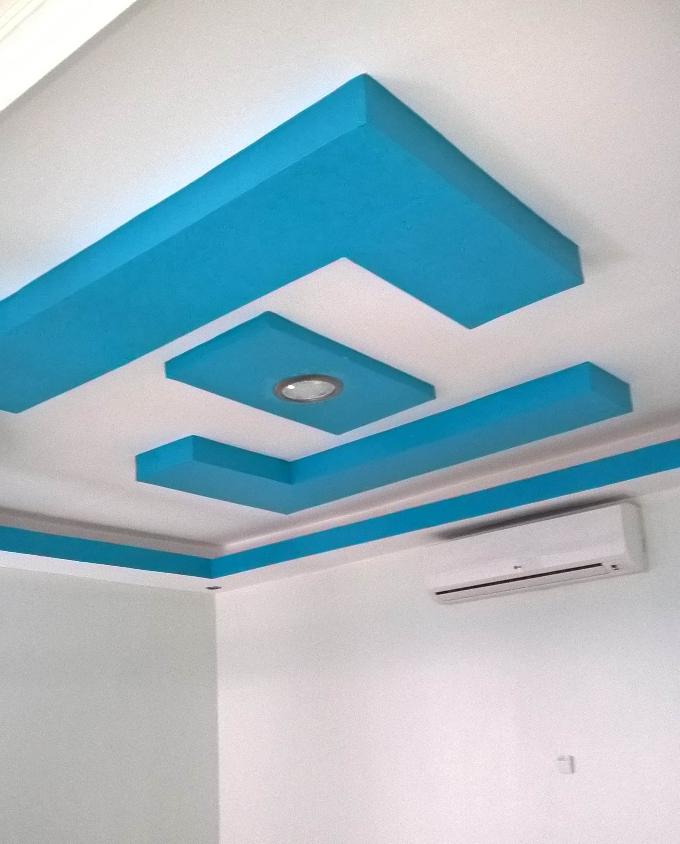 GYPSUM CEILING AT THE RECEPTION-ECO LAB